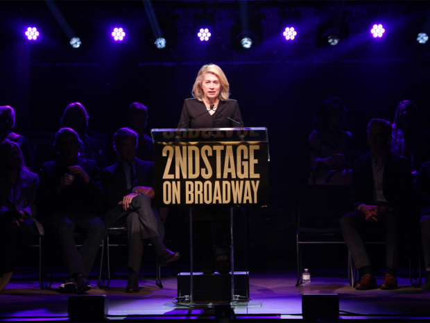 <p>Artistic director Carole Rothman takes the stage.</p><br />(© David Gordon)