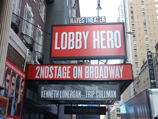 <p>Catch <em>Lobby Hero</em> at the Hayes Theater beginning March 1!</p><br />(© David Gordon)