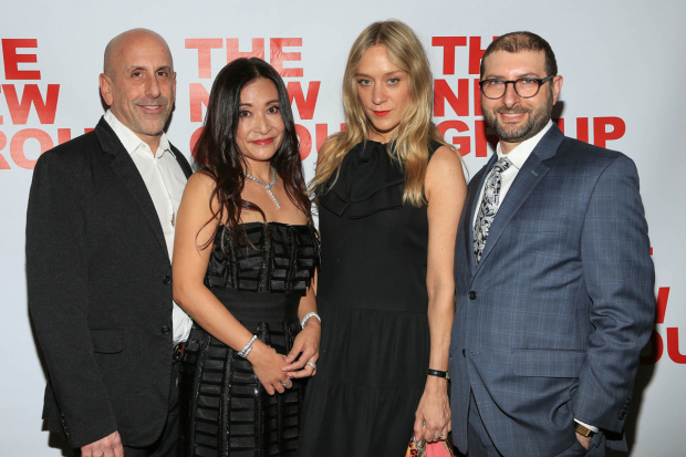 <p>New Group artistic director Scott Elliott (left) and executive director Adam Bernstein (right) honored Kumiko Yoshii and Chloë Sevigny at the New Group&#39&#x3B;s annual gala.</p><br />(© Tricia Baron)