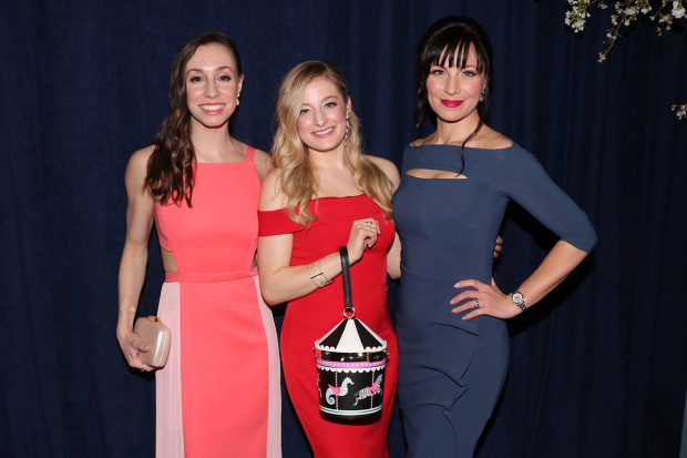 <p>Amy Ruggiero, Halli Toland, and Kelly McCormick pose together at the afterparty.</p><br />(© David Gordon)