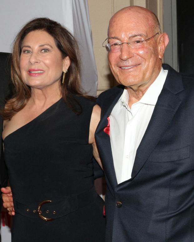 <p><em>Pretty Woman</em> Broadway producer Paula Wagner with the film&#39&#x3B;s producer, Arnon Milchan</p><br />(© David Gordon)