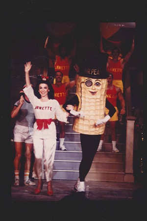 <p>1981: Silver coaxed the late beach-movie icon Annette Funicello out of retirement for a one-night-only appearance in <em>Beach Blanket Babylon Goes to the Stars and the Beach</em> at California Hall, where Funicello performed her popular 1960s song &quot&#x3B;Pineapple Princess.&quot&#x3B; She&#39&#x3B;s seen here standing next to Mr. Peanut, a permanent character of the musical revue. </p><br />(courtesy of the show)