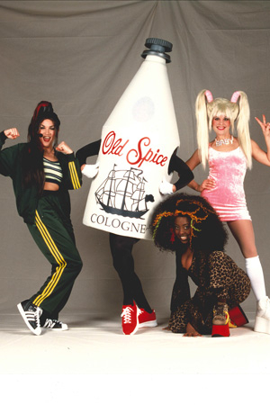 <p>2000: The long lost sixth member of the Spice Girls…Old Spice from 2000!</p><br />(courtesy of the show)