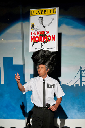 <p>2012: Governor Mitt Romney and his religious leanings came to the fore of the political scene during the 2012 Presidential election — the year following the Broadway debut of the hit Tony-winning musical <em>The Book of Mormon</em>. </p><br />(© Rick Markovich)
