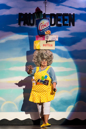 <p>2014: The queen of butter Paula Deen joined the <em>Beach Blanket Babylon</em> family following her inauspicious exit from the Food Network. </p><br />(© Rick Markovich)