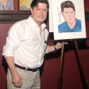 PHOTO FLASH: Nice Work If You Can Get It's Michael McGrath Receives Sardi's caricature