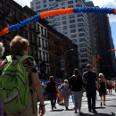 Michael Cerveris, Forbidden Broadway, William Michals at Third Avenue Street Fair