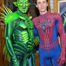 Broadway's Spider-Man and The Green Goblin Unironically Talk Safety
