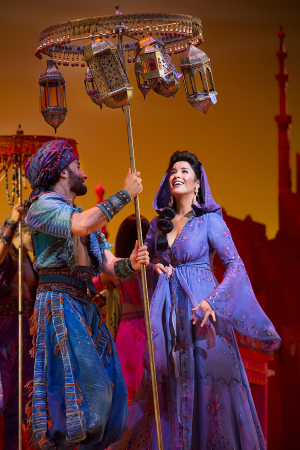 <p>Brandt Martinez joins Courtney Reed, who stars as <em>Aladdin</em>&#39&#x3B;s heroine, Jasmine.</p><br />(© Cylla von Tiedemann)