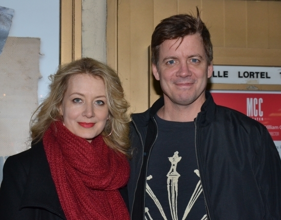 <p>Jennifer Mudge and Chris Henry Coffey spend date night off-Broadway.</p><br />(© David Gordon)