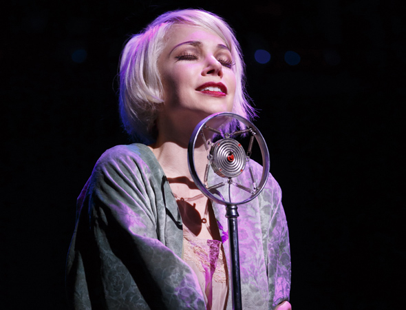<p>Michelle Williams takes the stage to sing &quot&#x3B;Maybe This Time.&quot&#x3B;</p><br />(© Joan Marcus)