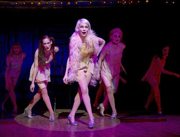 <p>Michelle Williams as Sally Bowles and the Kit Kat Klub girls perform &quot&#x3B;Don&#39&#x3B;t Tell Mama.&quot&#x3B;</p><br />(© Joan Marcus)