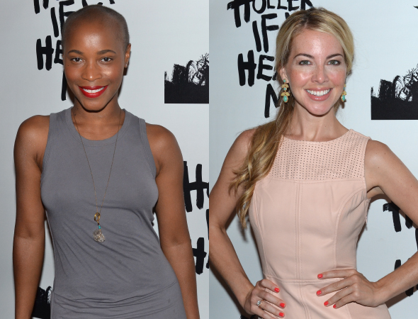 <p><em>Motown The Musical</em> veterans Valisia LeKae and Morgan James were on hand for the opening.</p><br />(© David Gordon)