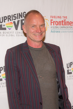 <p>Sting (composer of Broadway&#39&#x3B;s upcoming <em>The Last Ship</em>) flashes his smile after the first of many performances that evening.</p><br />(© Seth Walters)