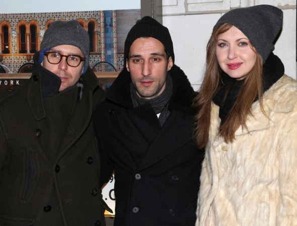 <p>Sam Rockwell (left) and Nina Arianda (right) next appear onstage together in MTC&#39&#x3B;s revival of Sam Shepard&#39&#x3B;s <em>Fool for Love</em>. Here they are with Michael Godere, a cast member of TV&#39&#x3B;s <em>The Affair</em>.</p><br />(© David Gordon)