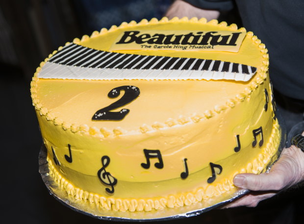 <p>A cake fit for a Broadway musical&#39&#x3B;s anniversary.</p><br />(© Allison Stock)