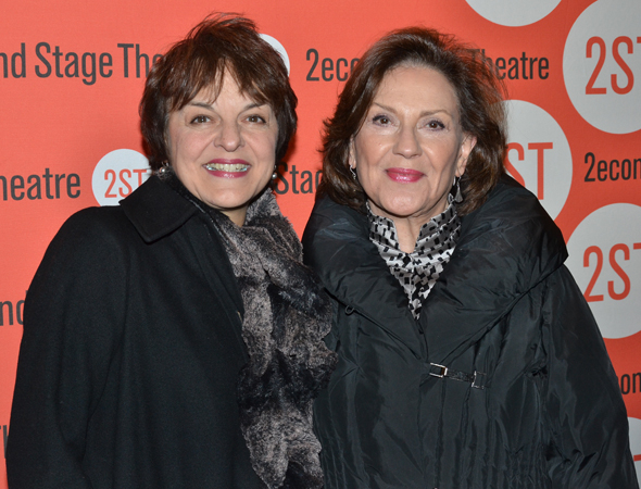 <p><em>A Chorus Line</em> pals Priscilla Lopez and Kelly Bishop spend an evening at the theater.</p><br />(© David Gordon)