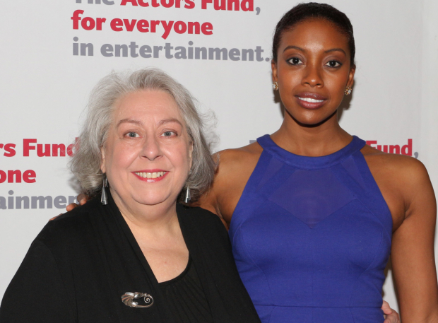 <p><em>A Doll&#39&#x3B;s House, Part 2</em> Tony nominees Jayne Houdyshell and Condola Rashad walk the red carpet together.</p><br />(© David Gordon)