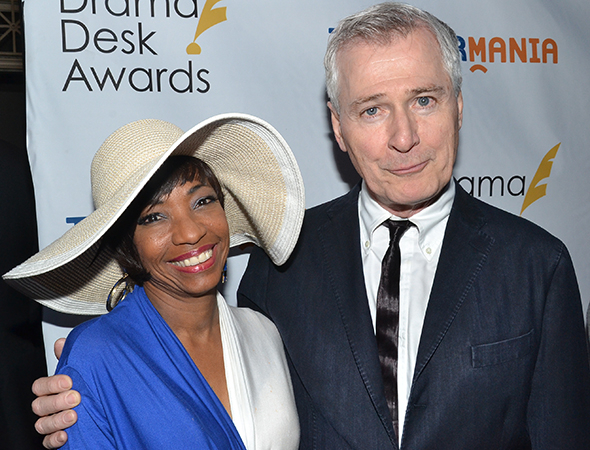 <p>A <em>Doubt</em> reunion for 2014 nominees Adriane Lenox and John Patrick Shanley.</p><br />(© David Gordon)
