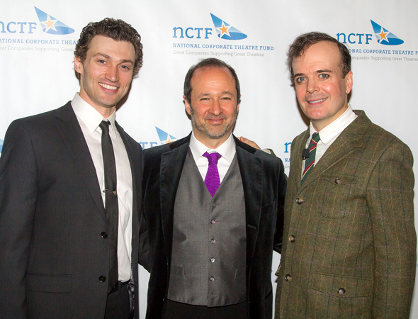 <p><em>A Gentleman&#39&#x3B;s Guide to Love and Murder</em>&#39&#x3B;s Bryce Pinkham (left) and Jefferson Mays (right) were joined by their show&#39&#x3B;s composer, Steven Lutvak.</p><br />(© Seth Walters)