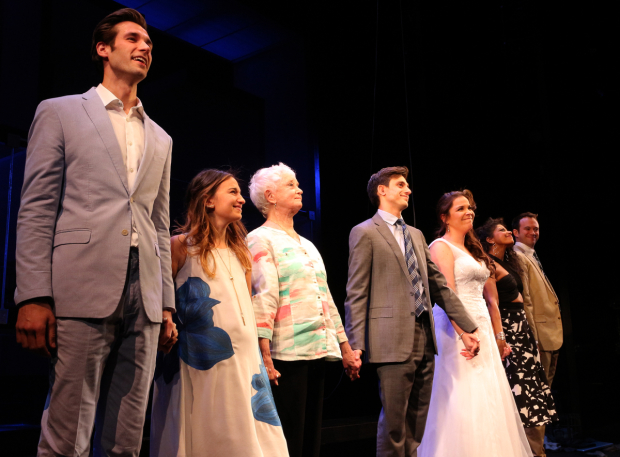 <p>A joyful opening-night bow for the company of <em>Significant Other</em>.</p><br />(© David Gordon)