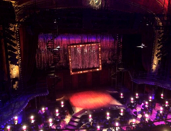 <p>A mezzanine view of the stage at Studio 54.</p><br />(© David Gordon)