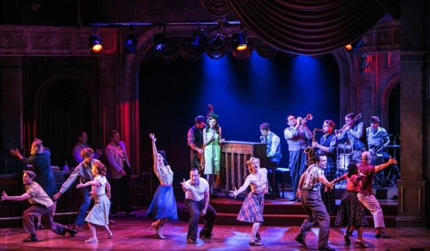 <p>A musical moment from <em>The Bandstand</em> at Paper Mill Playhouse.</p><br />(© Jerry Dalia)