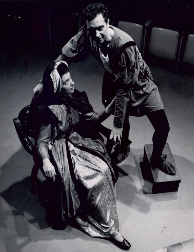 <p>A scene from the 1950 production of <em>The Firebrand</em>, starring Gordon Sterne as Benvenuto Cellini and directed by Zelda Fichandler, at Arena Stage.</p><br />(photo courtesy of Arena Stage)