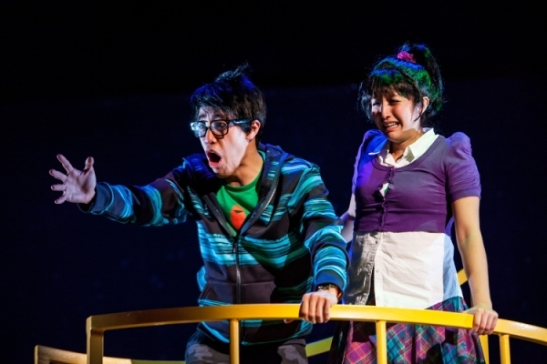 <p>A scene from <em>The Wong Kids in the Secret of the Space Chupacabra Go!</em></p><br />(photo courtesy of the production)