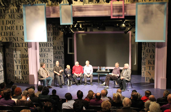 <p>A shot of the panel discussion in progress at the York Theatre Company.</p><br />(photo courtesy York Theatre Company)