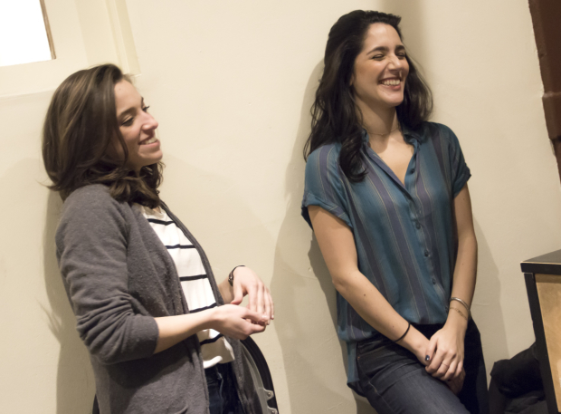 <p>A silly moment in rehearsal.</p><br />(© David Gordon)
