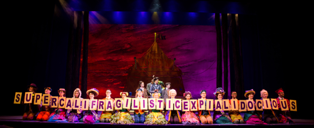 <p>A spelling lesson from the cast of <em>Mary Poppins</em>.</p><br />(© Matthew Murphy)
