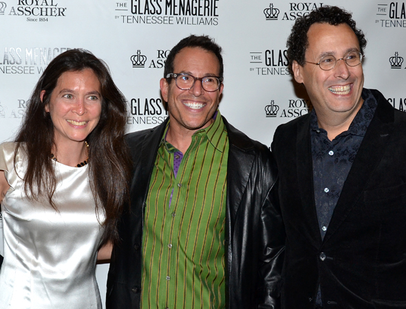 <p>A trio of Broadway&#39&#x3B;s finest: Tony Award-winning directors Diane Paulus and Michael Mayer, and Tony-winning playwright Tony Kushner.</p><br />(© David Gordon)
