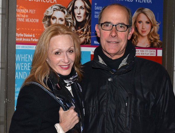<p>Acting couple Jan Maxwell and Robert Emmet Lunney spend date night on Broadway.</p><br />(© David Gordon)