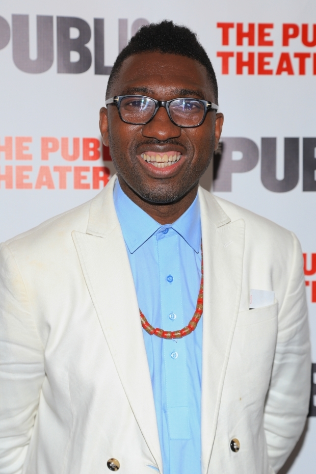 <p>Actor and playwright Kwame Kwei-Armah stopped for a photo.</p><br />(© Tricia Baron)