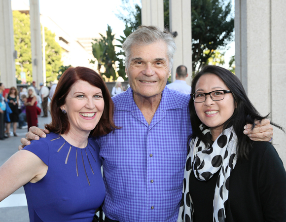 <p>Actors Kate Flannery, Fred Willard, and Suzy Nakamura are among the opening night crowd.</p><br />(© Ryan Miller/Capture Imaging)