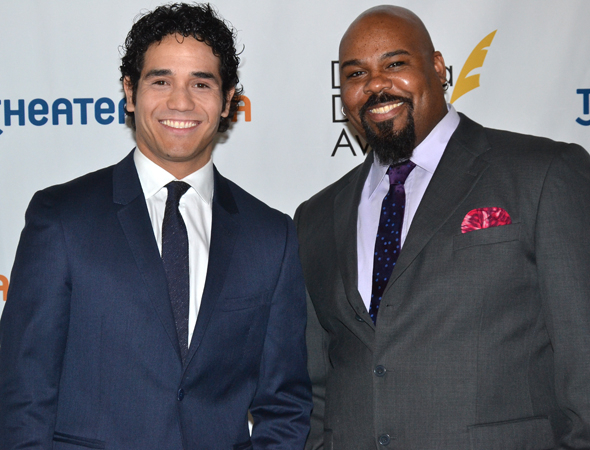 <p>Adam Jacobs and James Monroe Iglehart — acting nominees for <em>Aladdin</em>.</p><br />(© David Gordon)