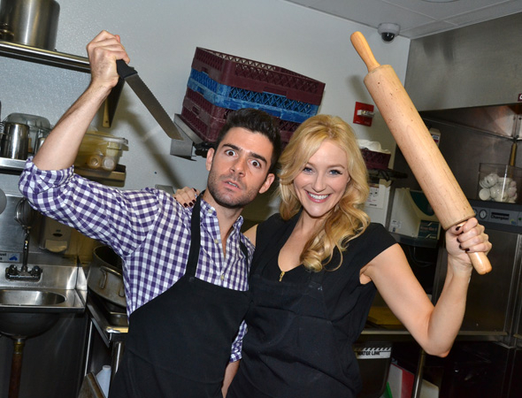 <p>Adam Kantor and Betsy Wolfe for the <em>Sweeney Todd</em> revival of 2017.</p><br />(© David Gordon)
