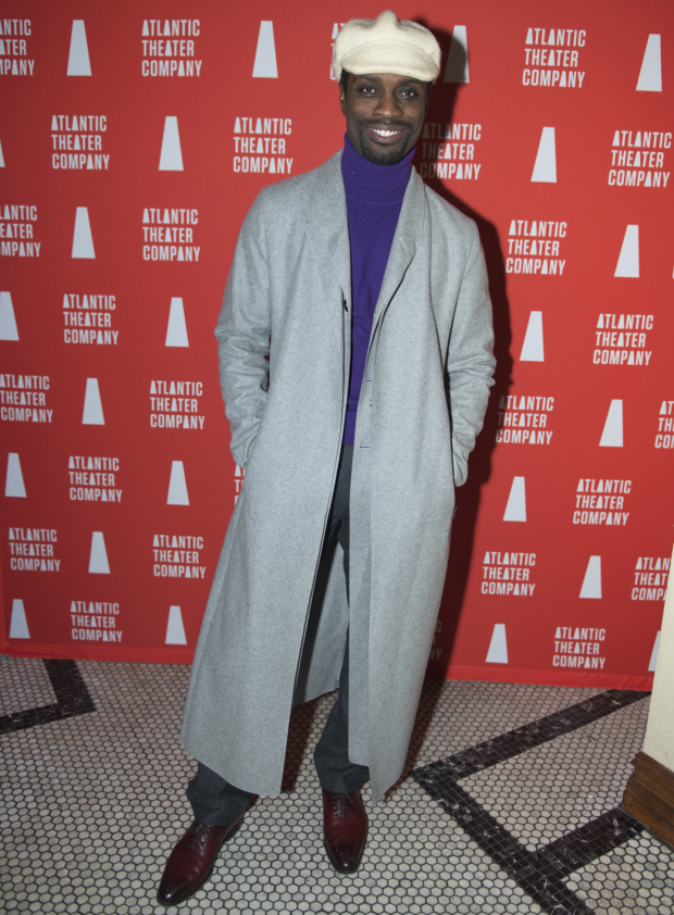 <p>Adesola Osakalumi completes the <em>Skeleton Crew</em> company.</p><br />(© Allison Stock)