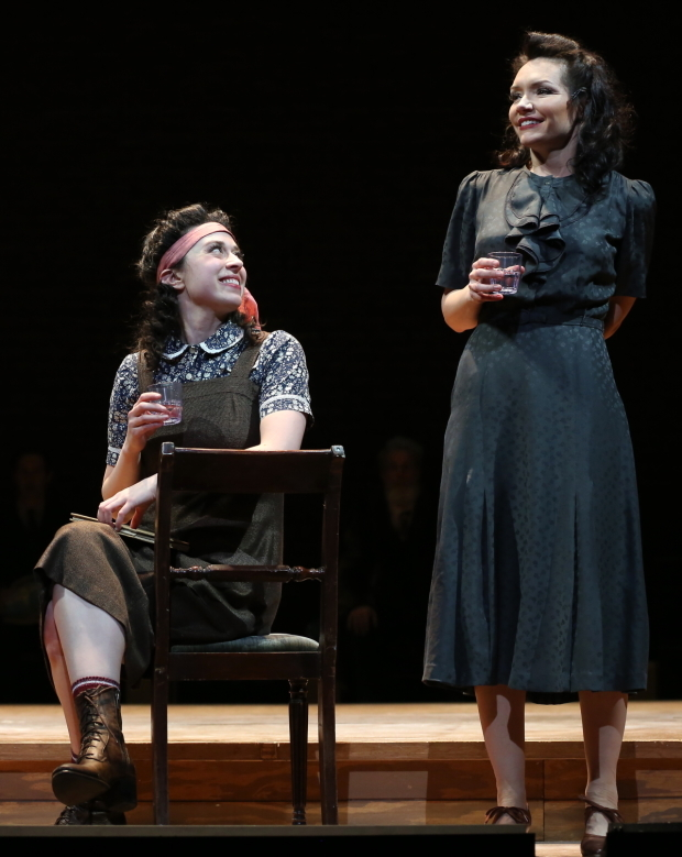 <p>Adina Verson also plays Rifkele, and Katrina Lenk stars as Menke.</p><br />(© Carol Rosegg)