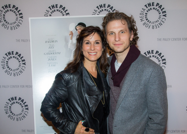 <p>Adorable Broadway couple Stephanie J. Block and Sebastian Arcelus.</p><br />(© Seth Walters)
