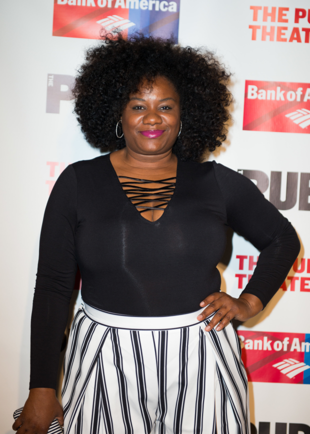 <p>Adrienne C. Moore plays the role of Tranio.</p><br />(© Allison Stock)