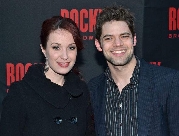 <p>After starring in a reading of the new musical <em>Ever After</em>, Sierra Boggess and Jeremy Jordan share the evening with each other.</p><br />(© David Gordon)