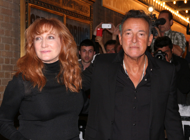 <p>After the show, Patti Scialfa Springsteen and Bruce Springsteen head to their opening-night party.</p><br />(© David Gordon)