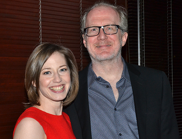 <p>After winning a Tony last year for <em>Who&#39&#x3B;s Afraid of Virginia Woolf?</em>, Tracy Letts once again takes the stage in <em>The Realistic Joneses</em>. Here he is with his wife, his <em>Woolf</em> costar Carrie Coon.</p><br />(© David Gordon)