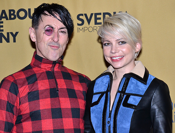 <p>Alan Cumming and Michelle Williams lead the company as the Emcee and Sally Bowles, respectively.</p><br />(© David Gordon)