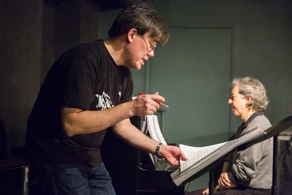 <p>Alan Gilbert and Grant Sturiale are hard at work.</p><br />(© Chris Lee)