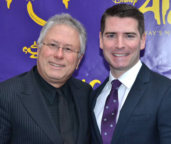<p>Alan Menken and Chad Beguelin are proud to see the musical they wrote come to life.</p><br />(© David Gordon)