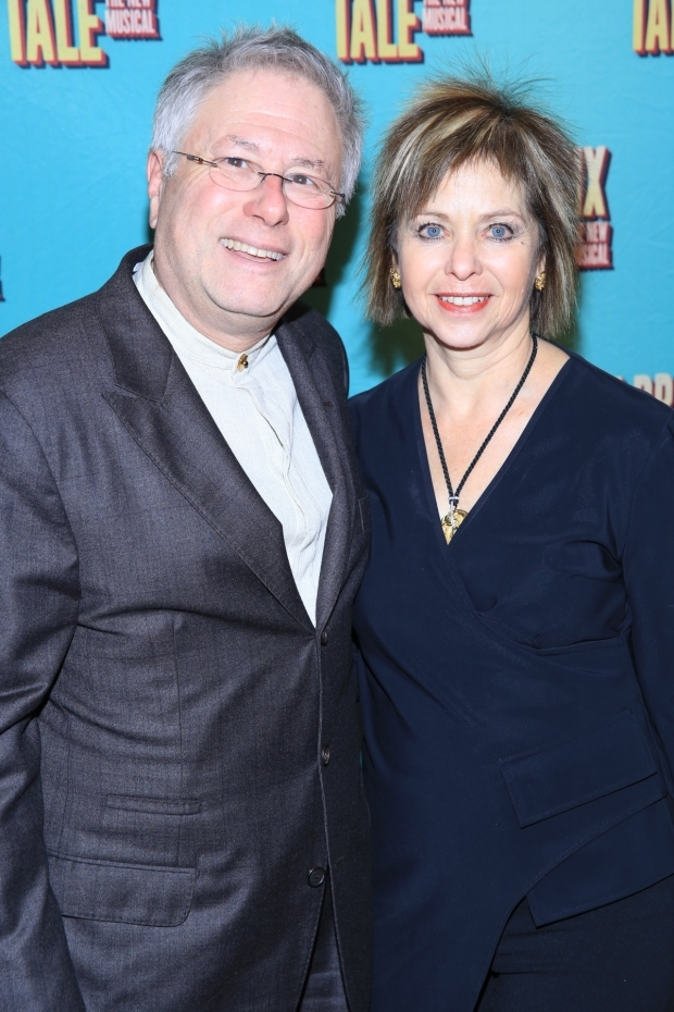 <p>Alan Menken enjoys another Broadway opening with his wife, Janis.</p><br />(© Tricia Baron)