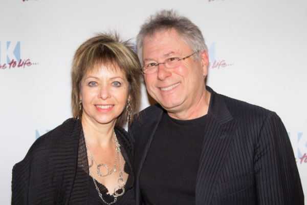 <p>Alan Menken, recipient of the Oscar Hammerstein Award, poses with his wife.</p><br />(© Seth Walters)